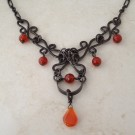 Sterling Silver and Carnelian Boho Chic Necklace