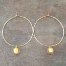 14K Gold Filled Hoop Earrings with Murano Glass
