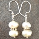 Sterling Silver Earrings with Pearls