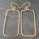 14K Gold Filled Simple Rectangle Earrings