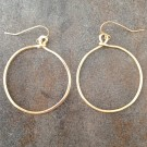 14K Gold Filled Simply Hammered Hoop Earrings