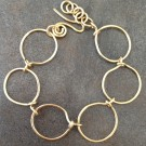 14K Gold Filled Circles Bracelet