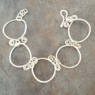 Sterling Silver Circles and Swirls Bracelet