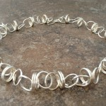 Sterling Silver Sculptural Necklace