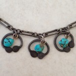 Sterling Silver and Turquoise Hoops Necklace