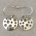 Sterling Silver Discs Earrings