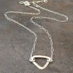 Sterling Silver Dainty Triangle Necklace