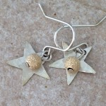 Sterling Silver Stars with Gold Filled Beads Earrings