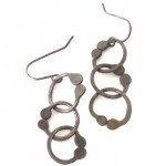 Sterling Silver Earrings with Three Interlocking Hoops