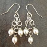 Sterling Silver and Pearls Earrings