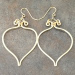 14K Gold Filled Eastern Inspired Hoop Earrings