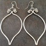 Sterlling Silver Eastern Inspired Hoop Earrings