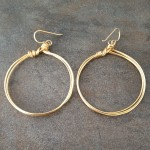 14K Gold Filled Earrings with Wrapped Multi Hoops