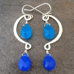 Sterling Silver Mobile Earrings with Turquoise and Blue Briolettes