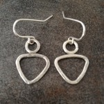 Sterling Silver Dainty Triangle Earrings
