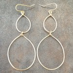 14K Gold Filled  Earrings with Graduated Tear Drops