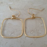 14K Gold Filled Simple Square Hoop Earrings