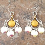 Boho Chic Sterling Silver and 14K Gold Filled Earrings
